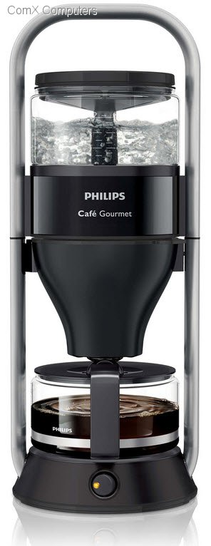 Philips Coffee Maker Glass Jug : Specification sheet: HD5407/60 Philips Cafe Gourmet Black Coffee maker With glass jug