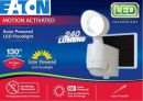MSS1301LW Eaton MSS1301LW Series 130 Degrees Motion Sensor Single Solar LED Floodlight - WHITE