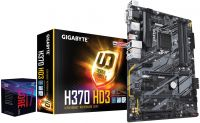 8700 + H370-HD3 Gigabyte Z370-HD3 H370 Express Chipset Gen 8 LGA 1151 m-ATX Motherboard and Intel i7-8700 CoffeelaKe-s 3.2Ghz LGA 1151 Processor