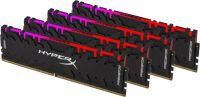 HX430C15PB3AK4/64 Kingston Hyper-x RGB Predator 64Gb(16Gb x 4) DDR4-3000 (pc4-24000) CL15 1.35v Desktop Memory Module with tall heatsink