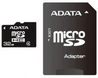 AUSDH32GCL4-RA1 ADATA 32GB Micro SD Card With SD Adapter