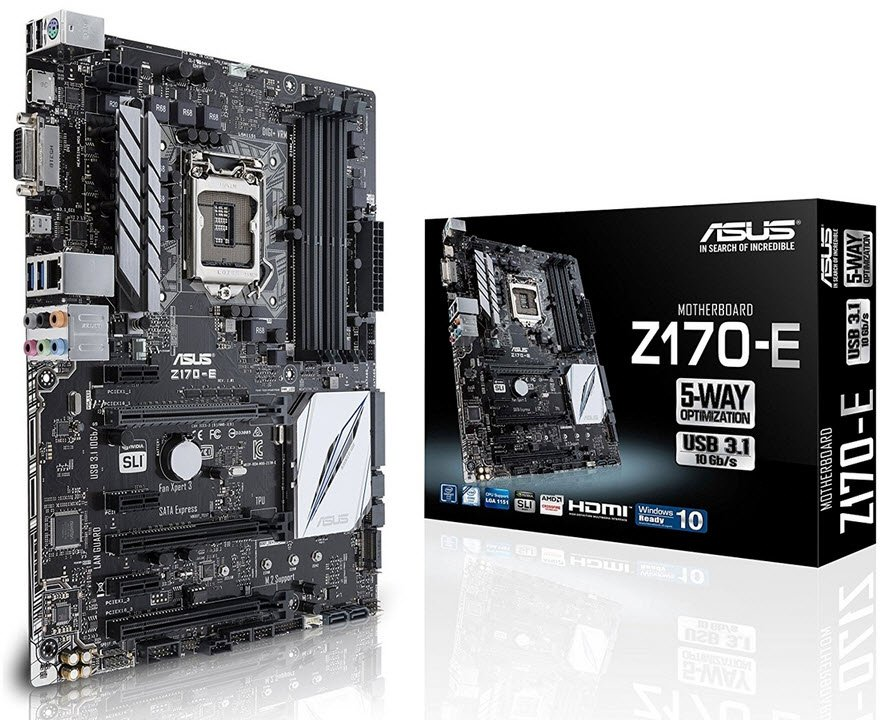 Specification sheet (buy online): 90MB0P60-M0EAY0 Asus Z170