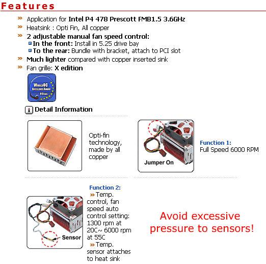 Specification sheet (buy online): TT-A1715 Thermaltake Intel