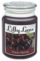 UKLL27 Lilly Lane Black Cherry Scented Candle - Large - Lidded Mason Glass Jar