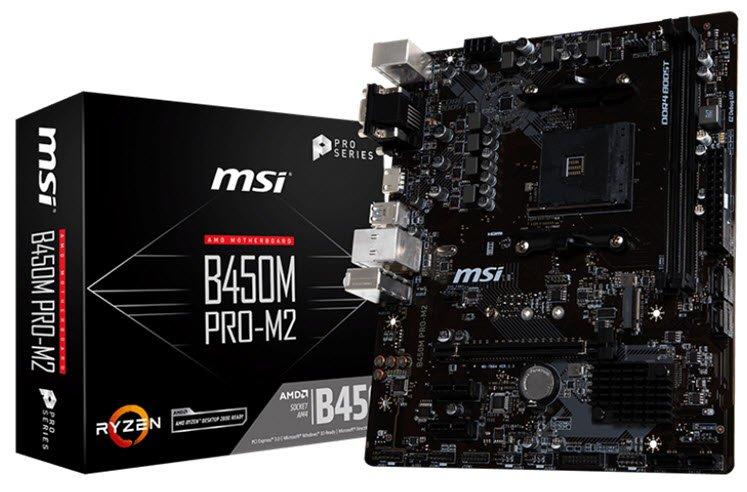 Specification sheet (buy online): B450M PRO-M2 MSI B450M PRO