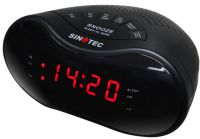 "CR-234D Sinotec CR-234D 0.6"" LED Alarm Clock AM/FM Radio"