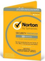 NORTON SEC PREM 10 Symantec Norton Security Premium 10 Devices 25GB - 1 Year Subscription
